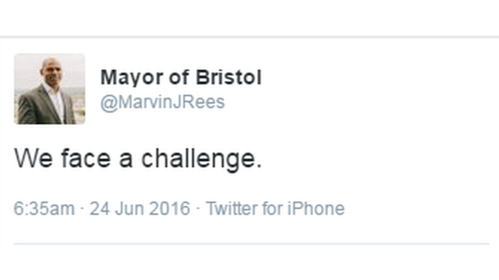 Marvin Rees tweet