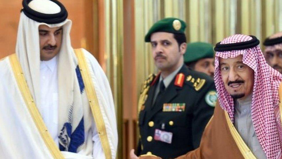 أمير قطر والعاهل السعودي