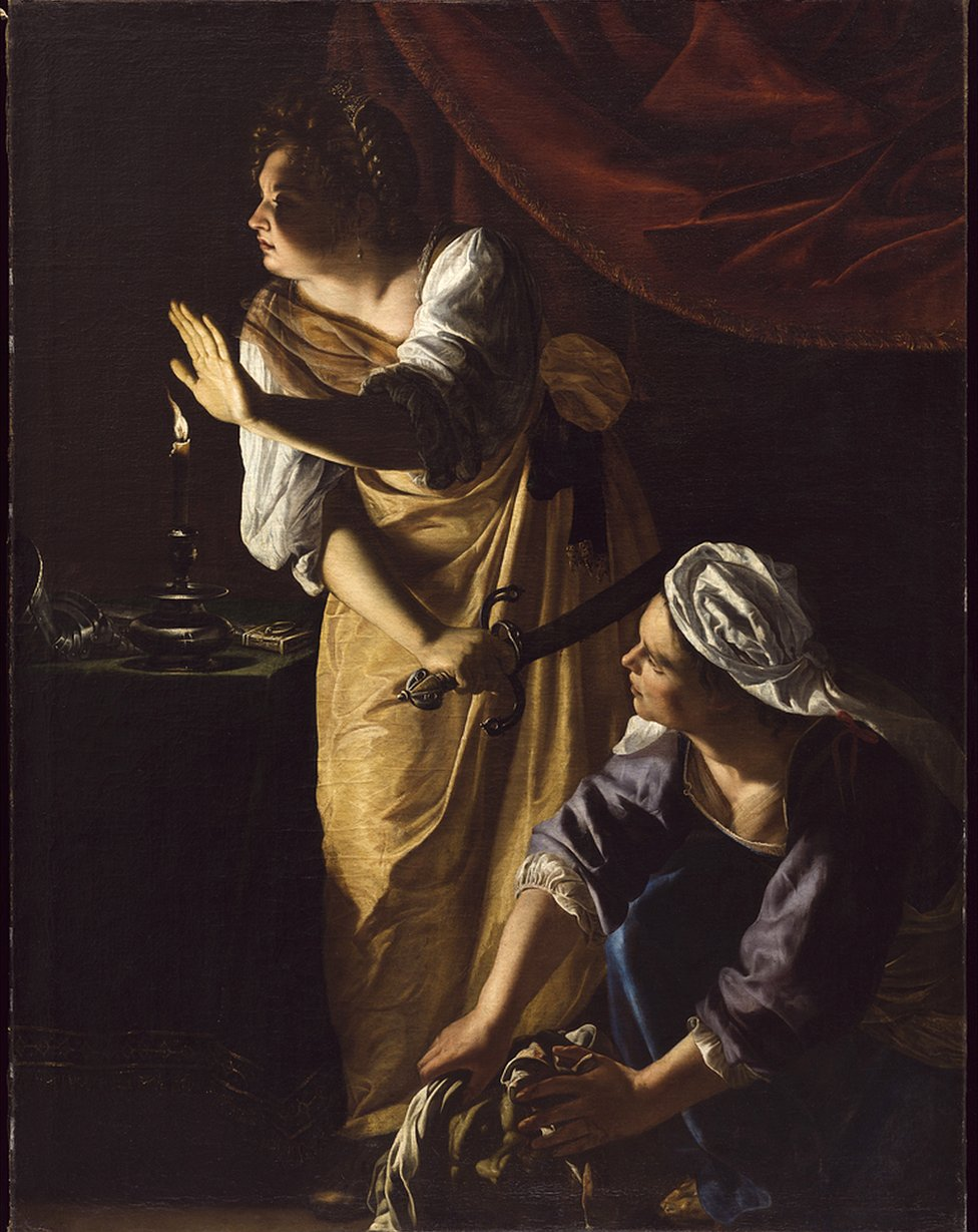 Judith and her Maidservant with the Head of Holofernes, about 1623-5