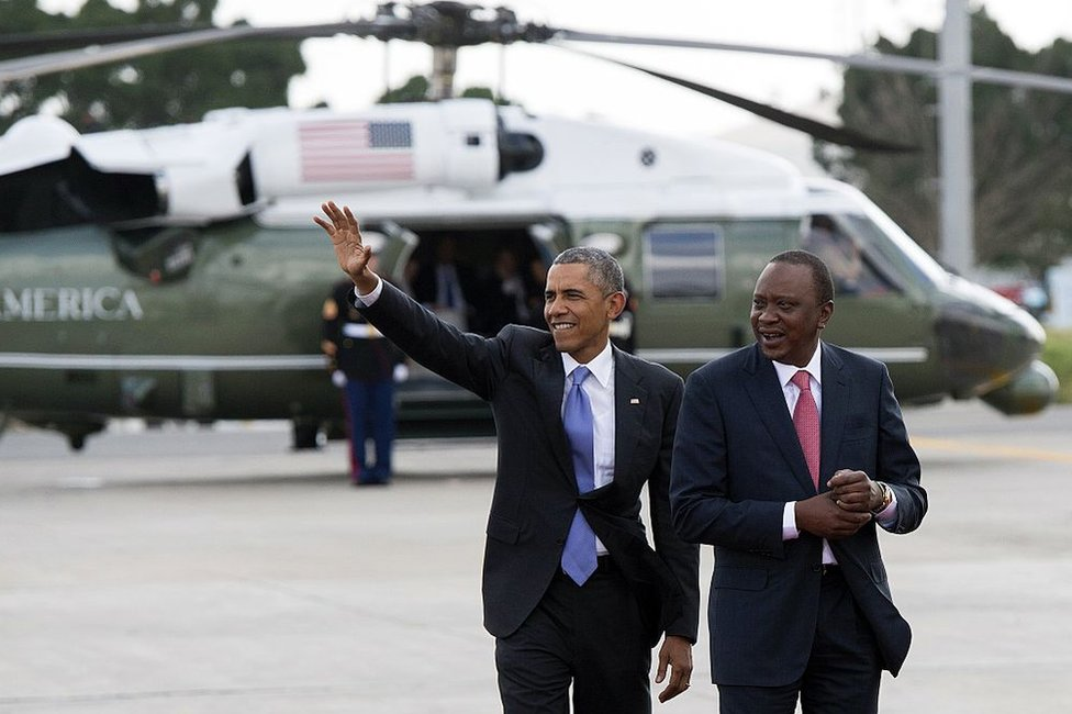 Barrack Obama and Uhuru Kenyatta