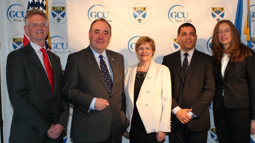 Alex Salmond formally opened GCU NY in April 2014