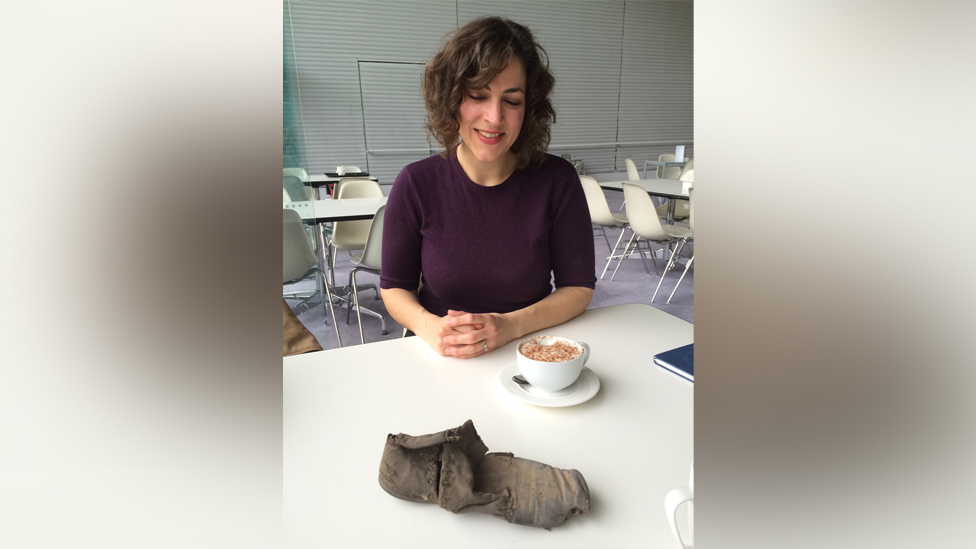 Laura Potts and the shoe