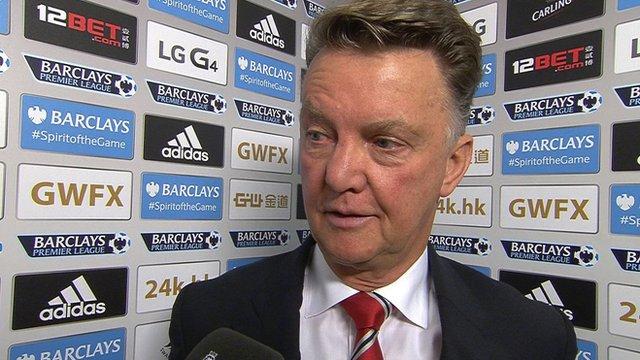 Van Gaal believes his side were unlucky to lose