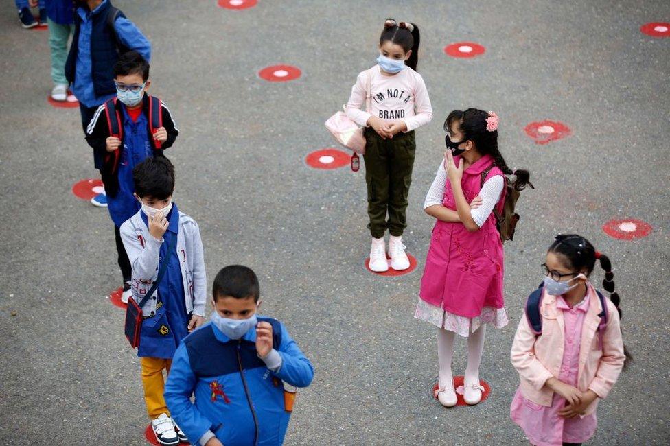 Primary school children in October 2020.