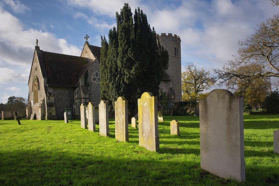 The churchyard at Kilverstone