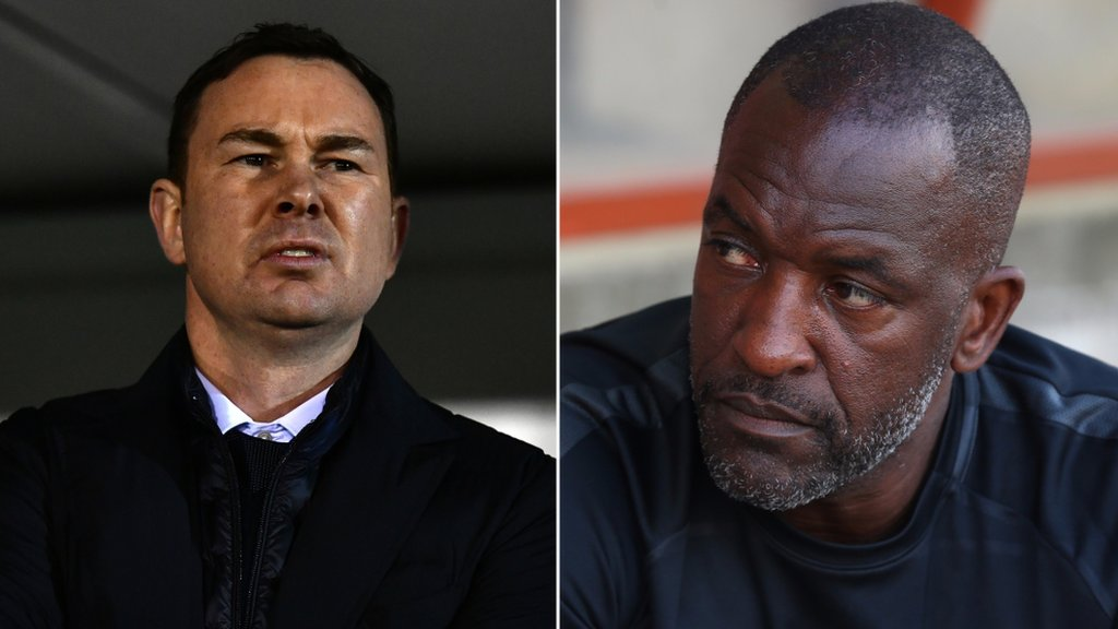 Derek Adams and Chris Powell become first EFL managers to get red cards