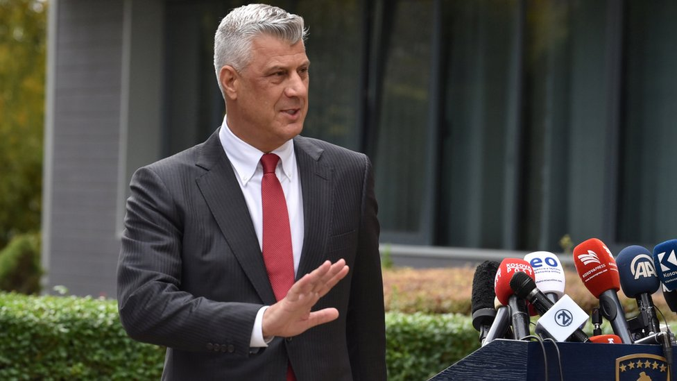 Kosovo Leader Thaci Resigns Over War Crimes Charges