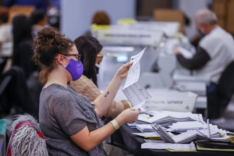 Un recuento de votos en Georgia
