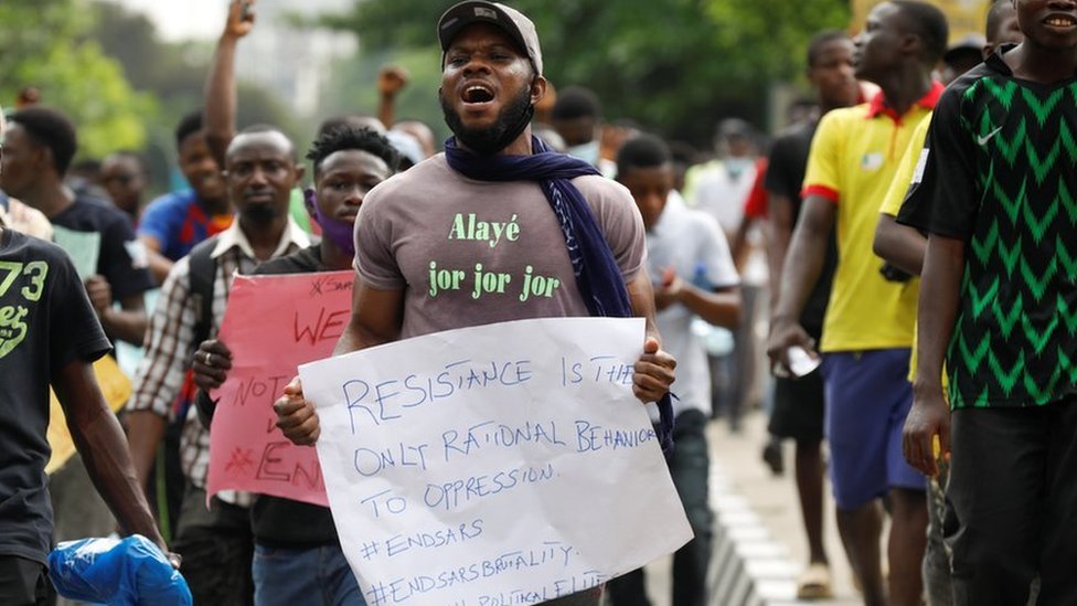 endsars protest in Lagos
