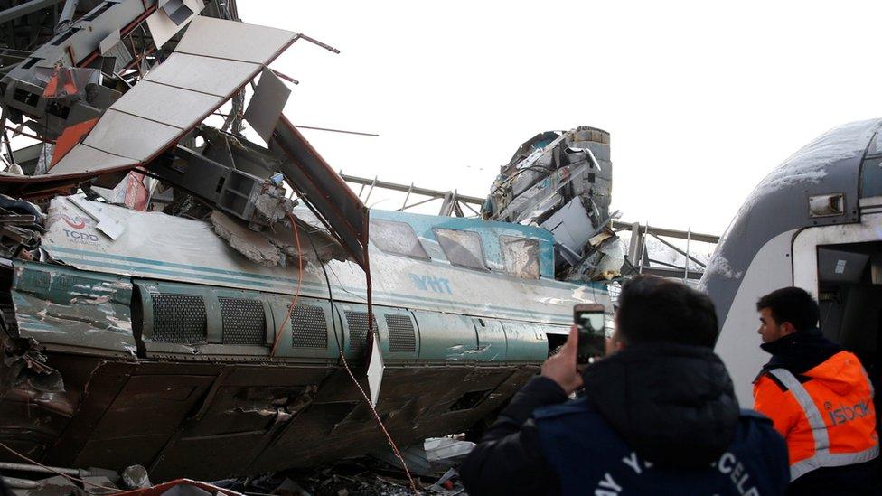 železnička nesreća u Ankari