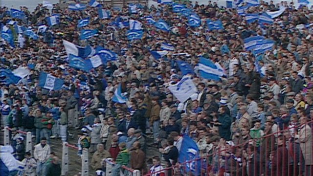 Scenes from the 1992 Irish Cup Final