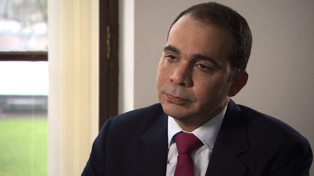 Fifa presidential candidate Prince Ali of Jordan
