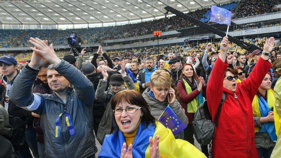 Poroshenko supporters