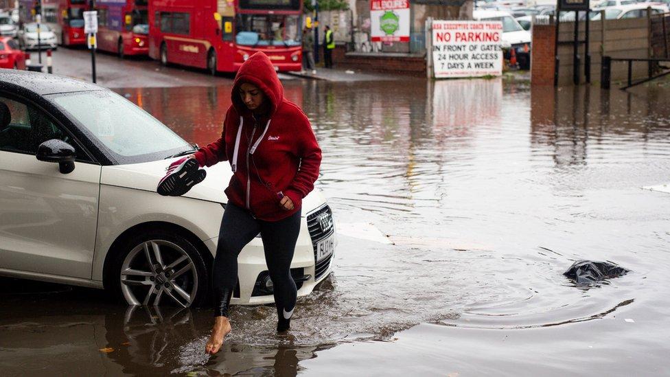 Flooding in Alum Rock, Birmingham