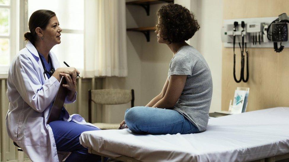 Paciente en un consultorio
