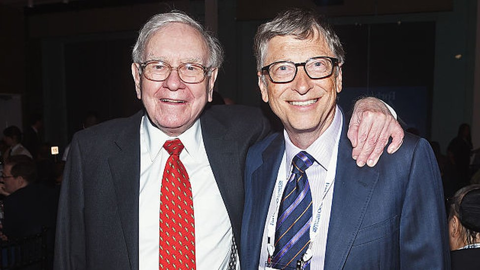 Warren Buffett y Bill Gates en 2015.