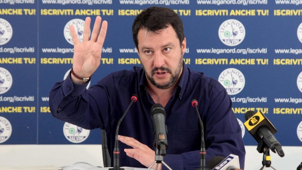 Mateo Salvini of Italy's Northern League