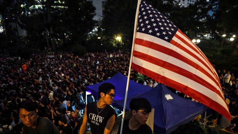Anti-extradition protestors