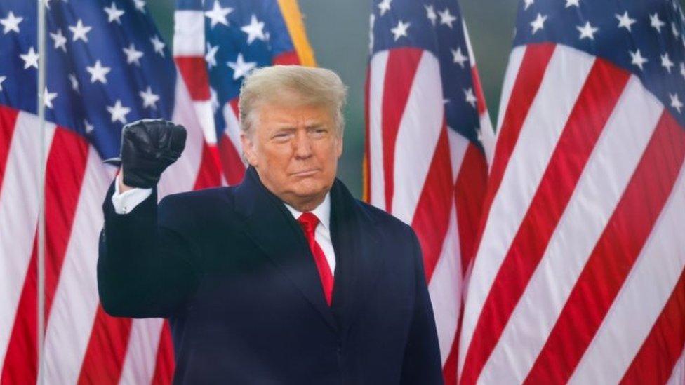 Donald Trump addresses supporters in Washington