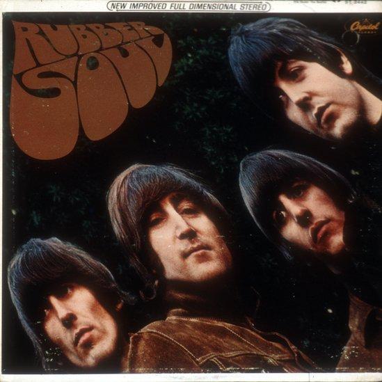 Portada del disco Rubber Soul de los Beatles.