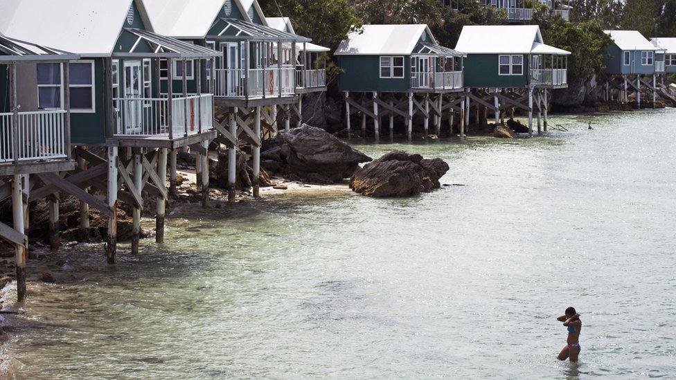 Beach houses in Bermuda