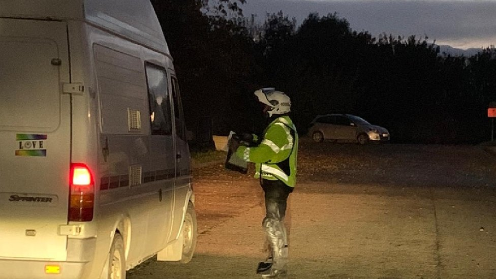 Gwent Police speaking to drivers on Friday night