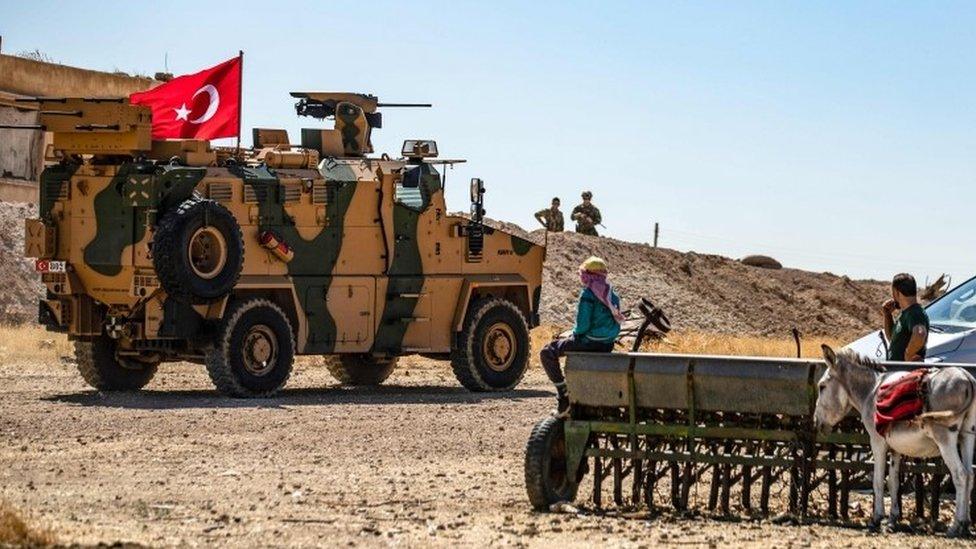 مركبات تابعة للجيش التركي