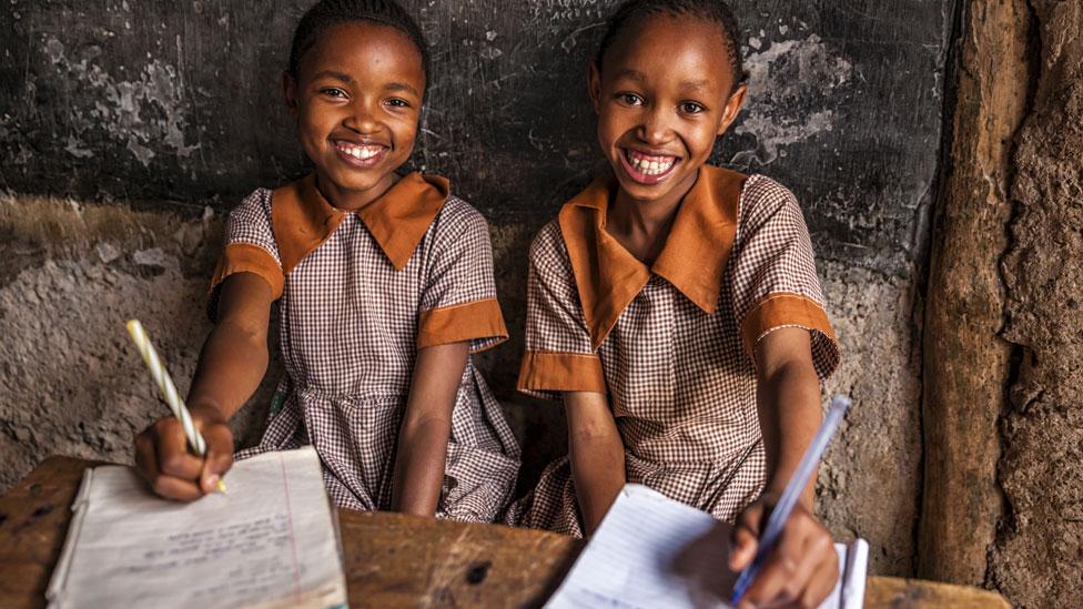 Pupils in classroom. Unesco report
