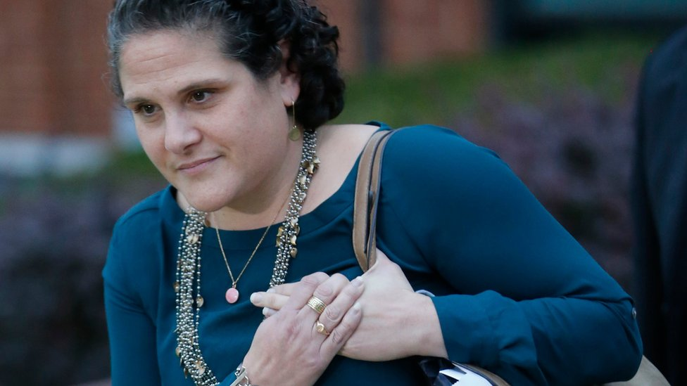 leaves federal court after closing arguments in her defamation lawsuit against Rolling Stone magazine in Charlottesville
