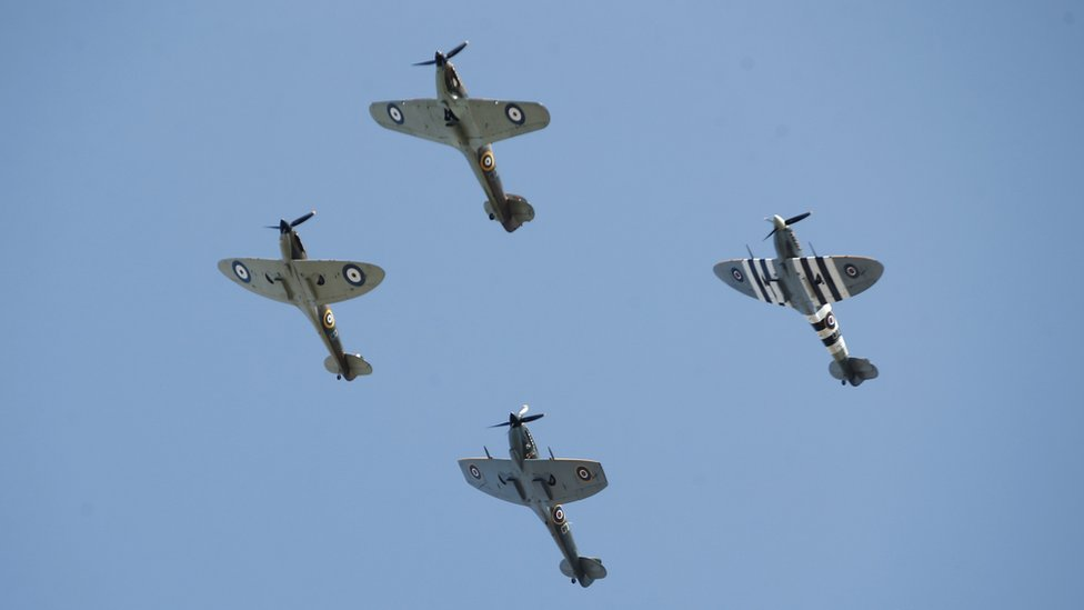 The flypast over central London