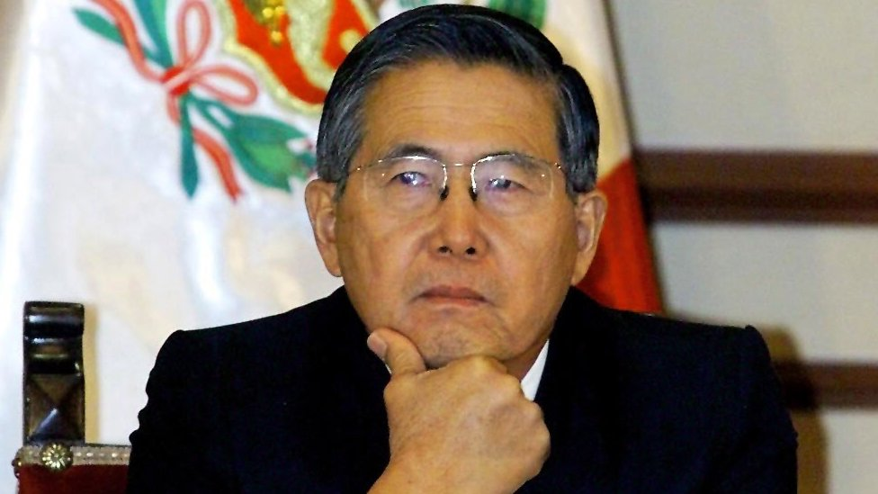 Alberto Fujimori attending the opening of a meeting of Latin American presidents in Lima, 9 June 2000