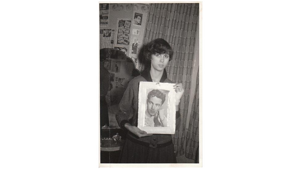Shirley en su habitación, cuando tenía 15 años.