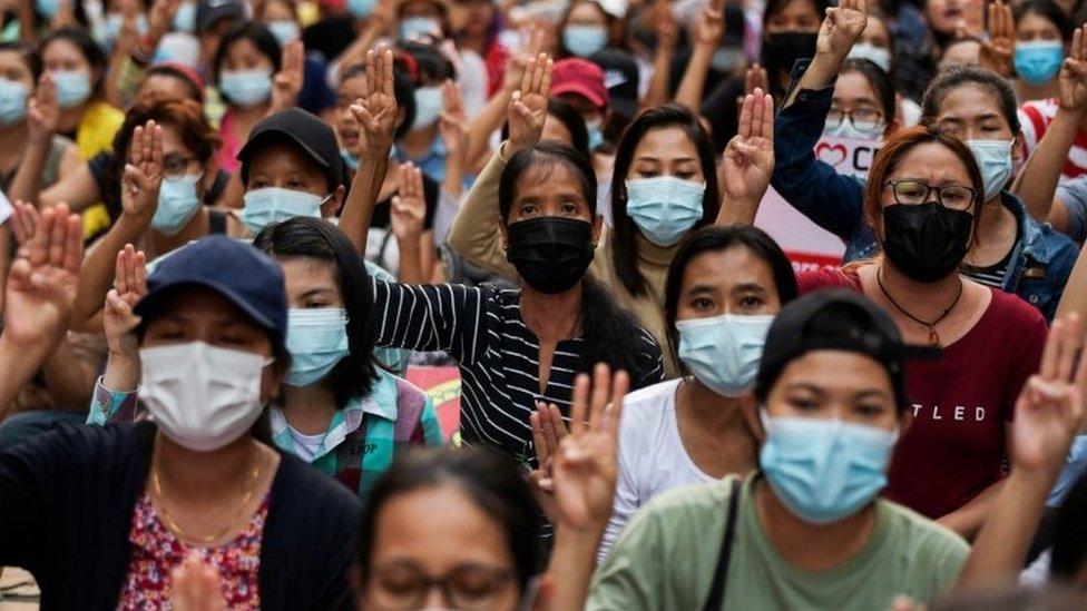 Demonstrasi, Myanmar, Yangon, kudeta