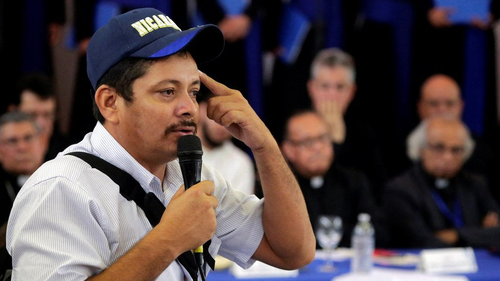 Medardo Mairena, líder del Movimiento Campesino de Nicaragua