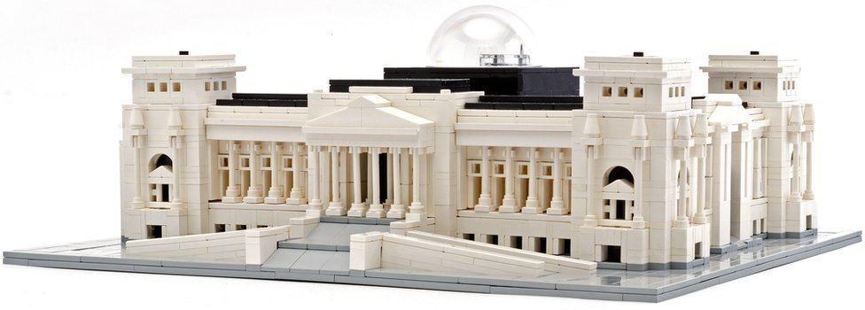 A Lego version of the Reichstag