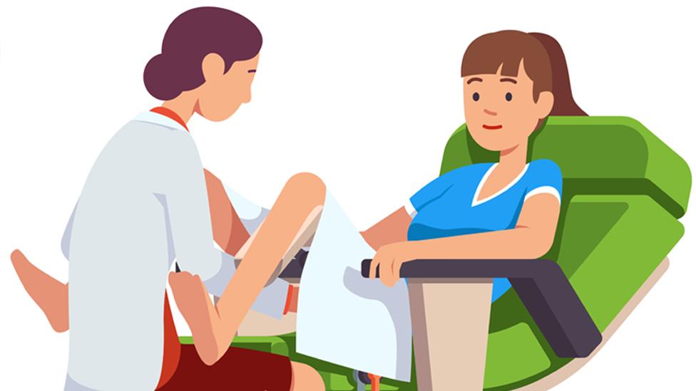 ilustracija ginekološkog pregleda
