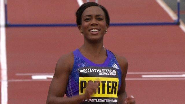 Tiffany Porter wins 100m hurdles at Great City Games