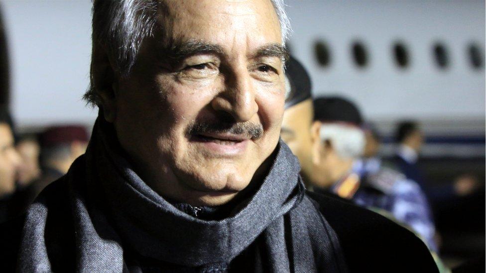Libyan renegade military leader Khalifa Haftar