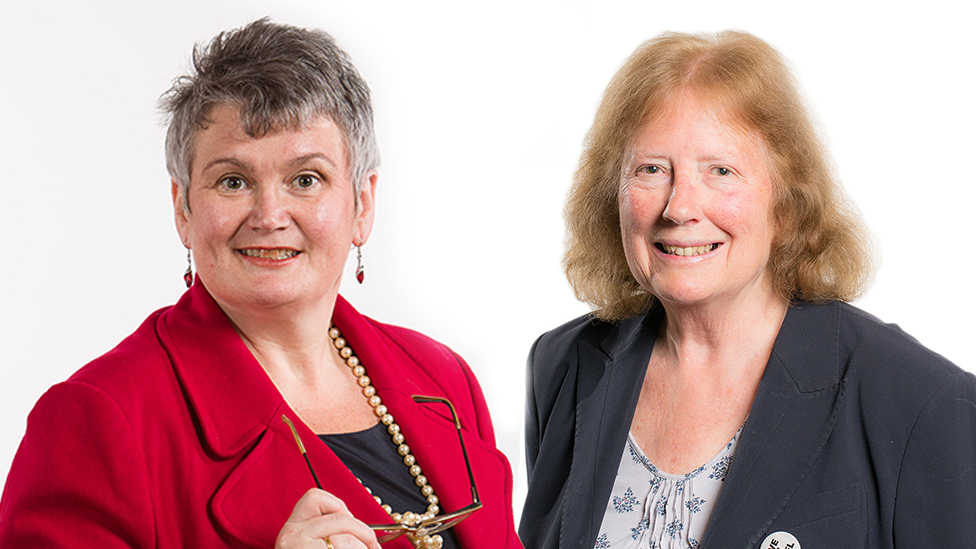 Carolyn Harris and Julie Morgan