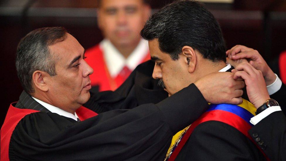 Maduro en su toma de posesión el 10 de enero de 2018.