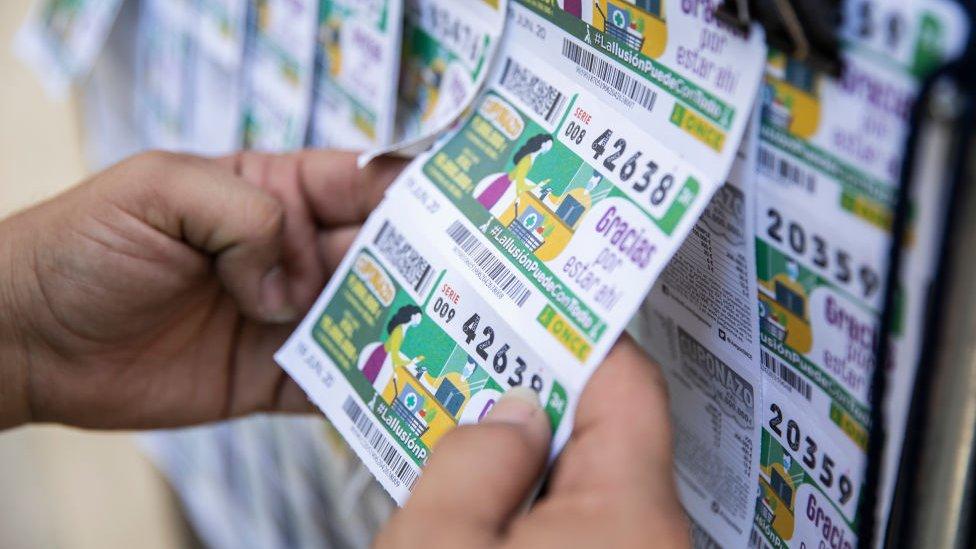 Cupones de lotería en España