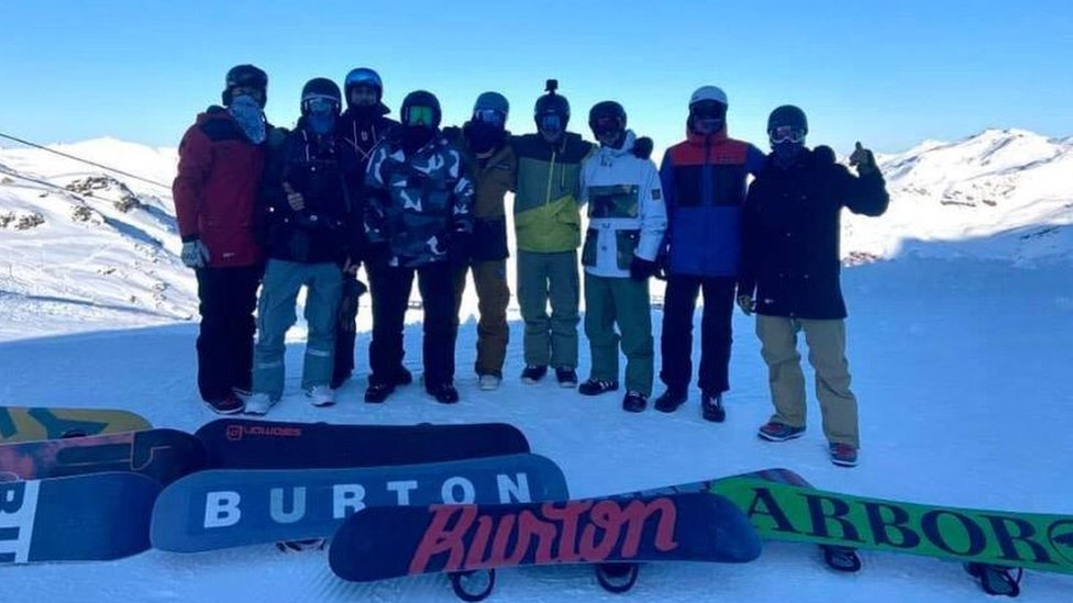 Loz Ball was on holiday with a group on friends in the French Alps when the accident happened in Val Thorens