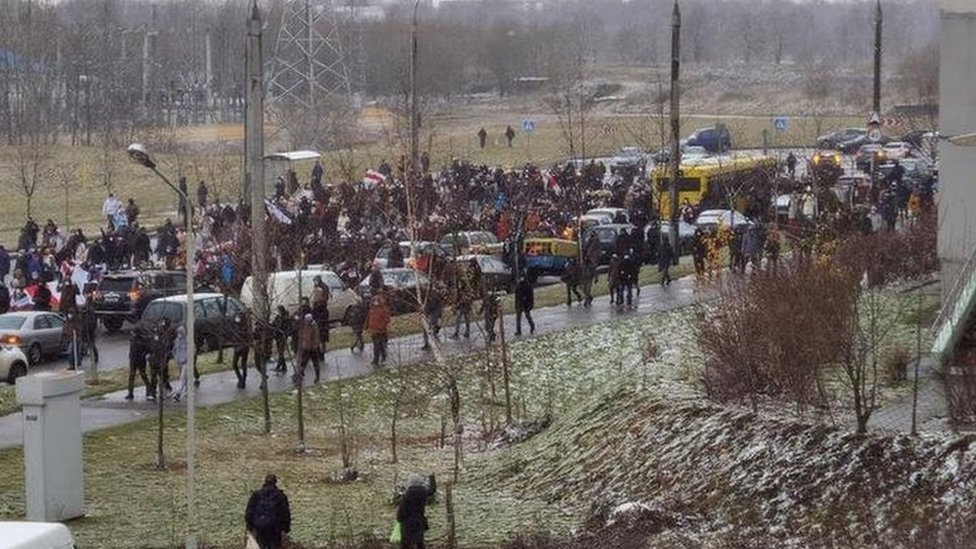 Протесты в Беларуси: демонстранты вышли на