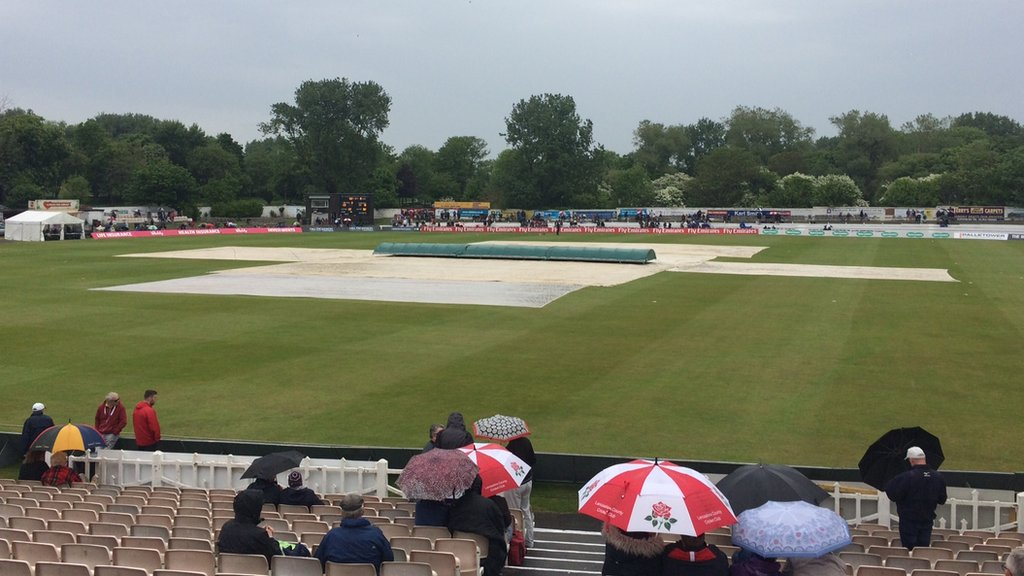 One-Day Cup: Lancashire-Warwickshire group game abandoned in Blackpool