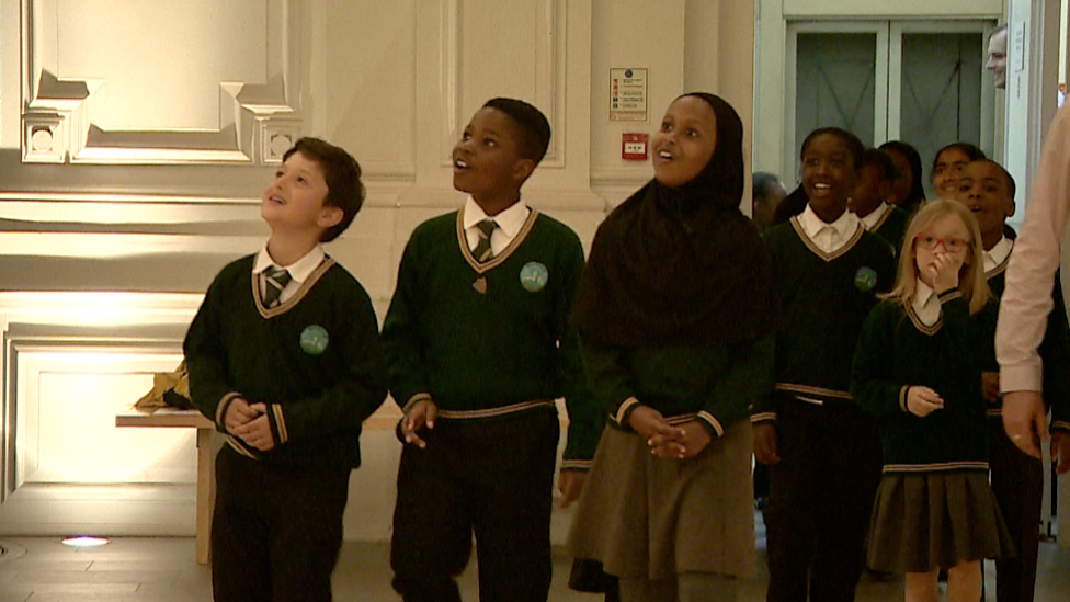 Birmingham youngsters met Dippy at museum