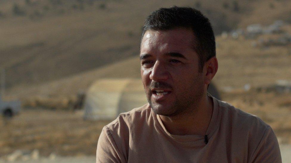 Hade Shingaly, a Yazidi man