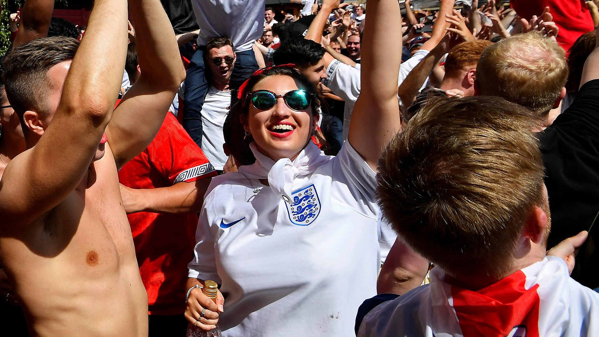 'It's coming home!' - how England celebrated a record World Cup win