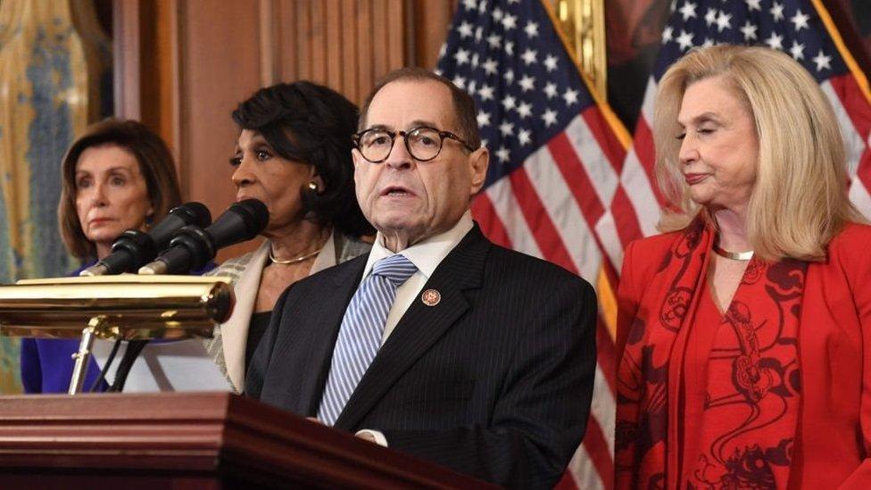 اللجنة القضائية بمجلس النواب الأمريكي تعلن عن مواد مساءلة ترامب.