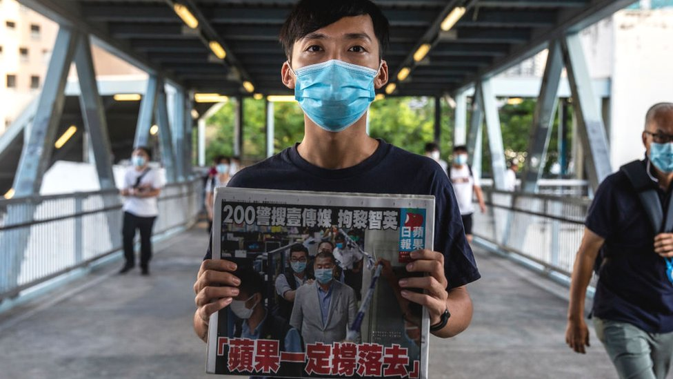 Hong Kong, China, UU Keamanan Baru, Jimmy Lai, pers, Apple Daily