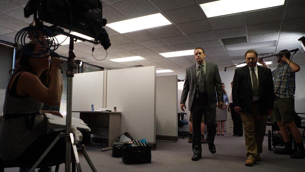 Iza scene - tokom snimanja serije